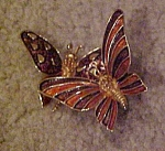 Boucher trembler butterfly pin