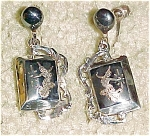 Siam sterling earrings