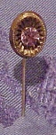 Stickpin with lavendar rhinestone