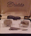 Shields Fifth Avenue Sterling Cufflinks/bar