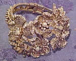 Floral design hinged bangle