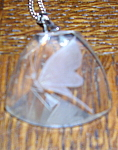 Glass pendant with butterfly