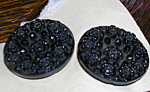 2 victorian glass buttons