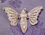 Click here to enlarge image and see more about item x5778: Rhinestone butterfly clip