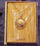 Gold filled locket in box