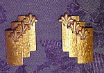 Click here to enlarge image and see more about item x5799: Brushed goldtone earrings