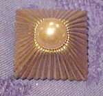 Mazer pin with faux pearl