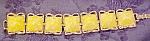 Yellow plastic bracelet
