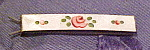Click here to enlarge image and see more about item x5914: Enamel barrette with flowers