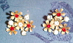 Czechoslovakian earrings w/rhinestones