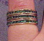 3 sterling bands w/rhinestones