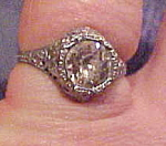 Click here to enlarge image and see more about item x5958: Edwardian filligree ring