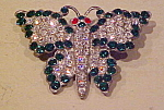 Click here to enlarge image and see more about item x5975: 1920/30s butterfly pin