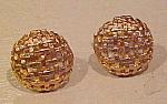 Woven design cufflinks
