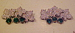 Click to view larger image of 2 rhinestone leaf pins (Image1)