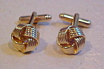 Knot design cufflinks