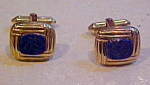 Blue lapis cufflinks
