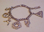 Click here to enlarge image and see more about item x6028: nautical theme charm bracelet