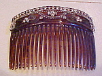 Vintage Hair comb with rhinestones