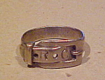 Sterling buckle design ring
