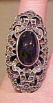 Marcasite and sterling ring