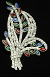 Art Deco floral brooch