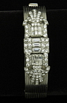 Art Deco hinged bangle