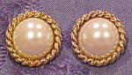 Carole Lee faux pearl earrings