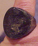 Click to view larger image of Marbled green Bakelite ring (Image1)