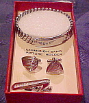 Windsor man's cufflink, bracelet, tie bar set