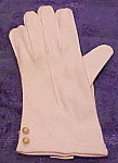 English cotton gloves with faux pearls