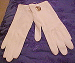 English cotton gloves with embroidery