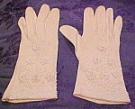 White gloves with beading