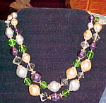 2 strand bead necklace