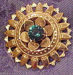 Brooch with tiny hearts and rhinestone