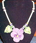 Ruby Z Candace Loheed ceramic pansy necklace