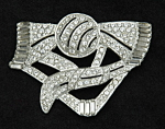 Click here to enlarge image and see more about item x6423: Art Deco brooch