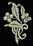 Click here to enlarge image and see more about item x6434: Rhinestone flower brooch