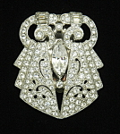 Click here to enlarge image and see more about item x6436: Art Deco dress clip