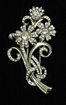 Click here to enlarge image and see more about item x6439: Rhinestone floral bouquet brooch