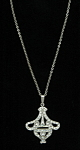 Click here to enlarge image and see more about item x6440: Sterling Art Deco pendant
