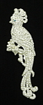 Click here to enlarge image and see more about item x6454: Art Deco Cockatoo Brooch