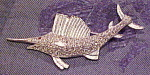 Click here to enlarge image and see more about item x6458: Vintage sailfish pin