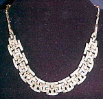 Click here to enlarge image and see more about item x6460: Art Deco rhinestone necklace