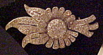 Click here to enlarge image and see more about item x6462: Rhinestone flower brooch