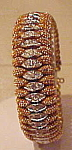 Click here to enlarge image and see more about item x6467: Goldtone bracelet with rhinestones