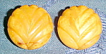Click here to enlarge image and see more about item x6477: Butterscotch Bakelite earrings