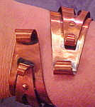 Click to view larger image of Copper Moderne hinged bangle (Image1)