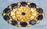 Click here to enlarge image and see more about item x6568: czechoslovakian brooch w/rhinestones