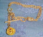 Gold filled bracelet with chrm